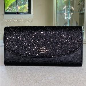 🔥Sale🔥NWT❗️COACH Wallet in Black Glitter